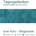 tagesgedanken-blogparade-euer-auto